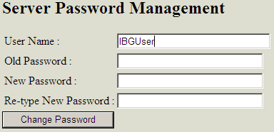 Server Password Management